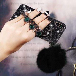 Accessories - For IphoneX Case Fox Fur Pom Pom Ball Jewel Chain